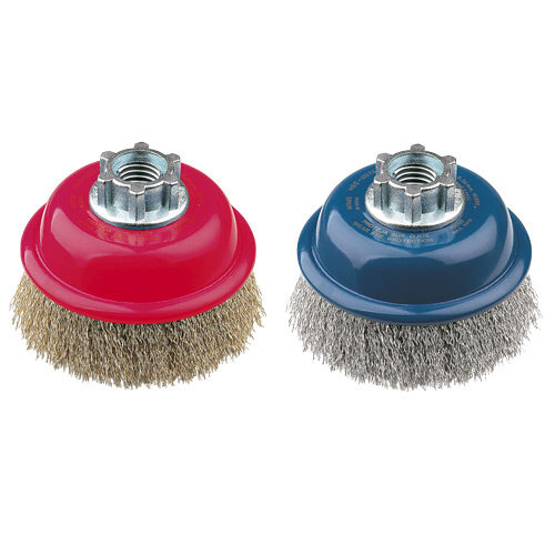 HSC0075ZR77 Cup Brush High Speed 75mm x 22mm x 0.3mm - M10 Multi Fit - Stainless Steel
