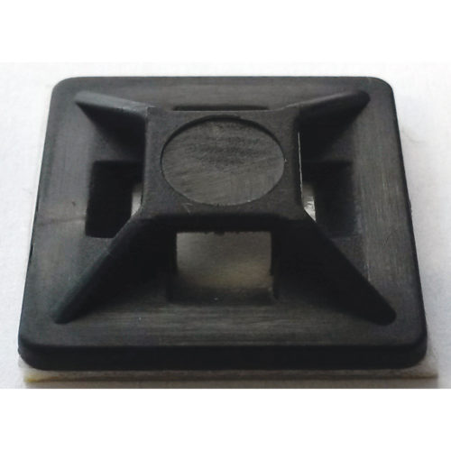 ISL 19 X 19MM CABLE TIE MOUNTING BASE - BLACK - 100PK
