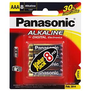 PANASONIC AAA BATTERY ALKALINE (8PK)
