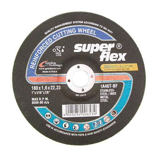 Depressed Centre Cutting Disc 180mm x 1.6mm x 22mm