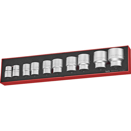 TENG 10PC 3/4IN DR. SOCKET SET 22-50MM -TEX-TRAY™